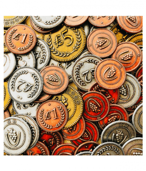 Viticulture metal coins